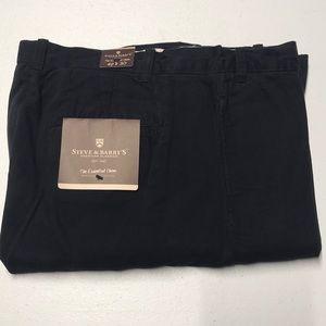 🆕 STEVE & BARRY's Mens 42 x 30 Blue Cotton Pants